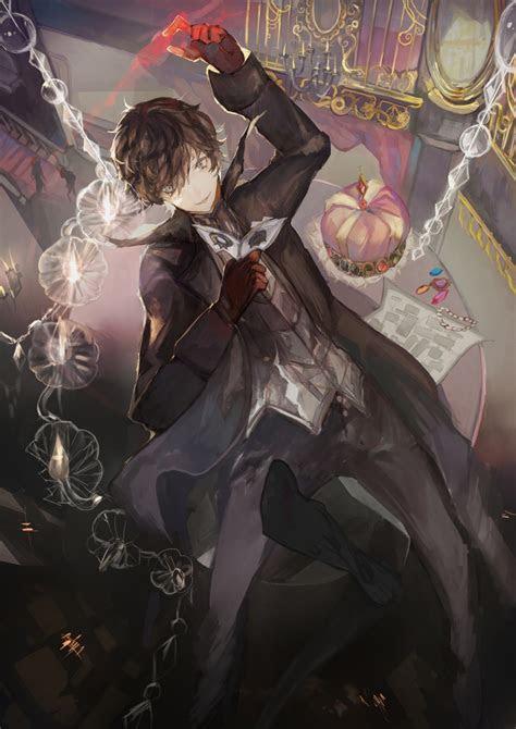 wallpaper kurusu akira joker shin megami tensei persona  anime style games wallpapermaiden