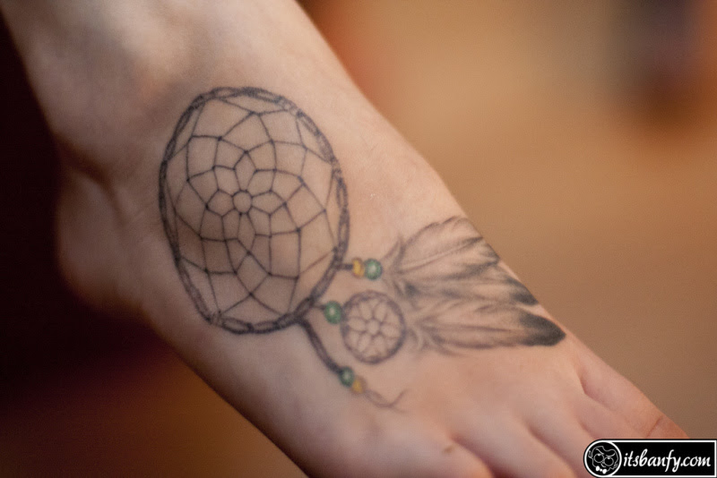 Dream Catcher Tattoo Design On Foot Tattoos Book 65000 Tattoos