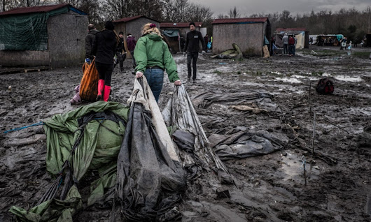 Heavy rains bring disease and disaster to France's forgotten refugee camp