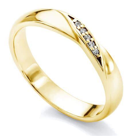 Diamond Twist Wedding Ring   Twisted Ribbon Diamond Set