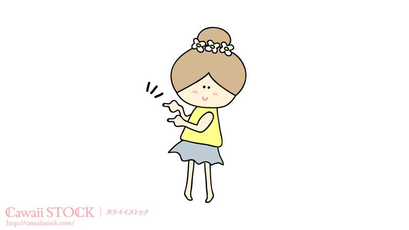 ゆるかわな女の子のイラスト素材 01 カワイイストックフリー素材配布