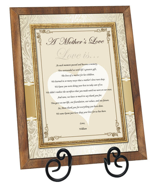Personalized Thank You Gift Mom Mother Bride Groom Birthday Poetry