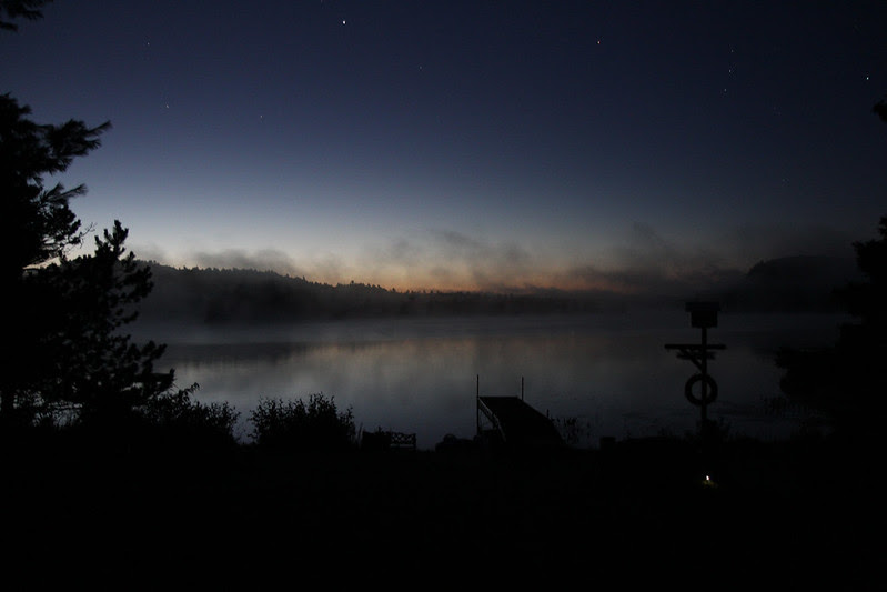 just before dawn