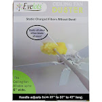 """Evelots Removable & Washable Ceiling Fan Duster - Up to 47"""" Reach"""