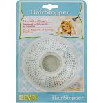 Evriholder Bathroom Drain Hair Stopper, White