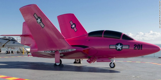 US Navy to fight breast cancer with a bright pink fighter jet