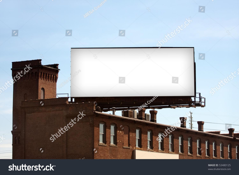 Large Blank Urban Billboard Copy Space Stock Photo 53480125 ...