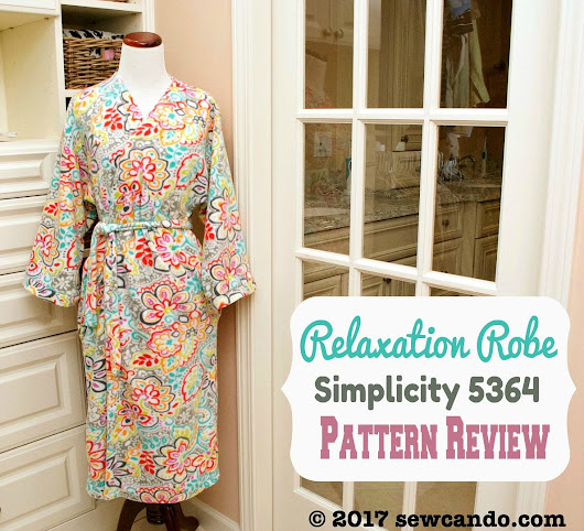 Pattern Review: My Relaxation Robe With Simplicity 5364