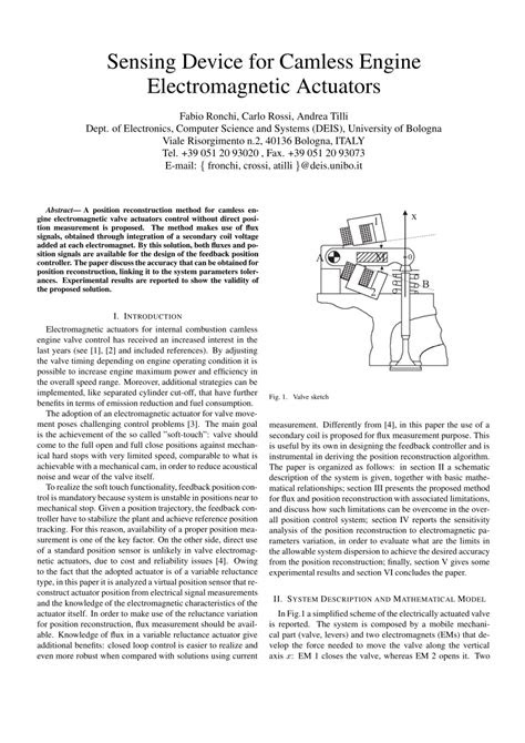 (PDF) Sensing device for camless engine electromagnetic