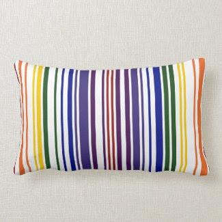 Double Rainbow Barcode Pillows