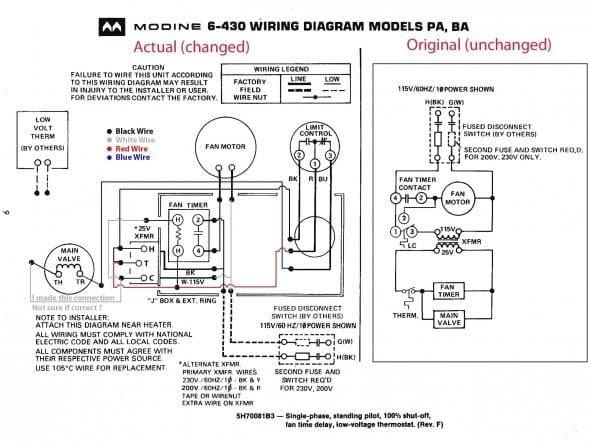 Modine Thermostat Wiring