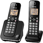Panasonic KX-TGC352B Expandable Cordless Phone with 2 Handset - Black