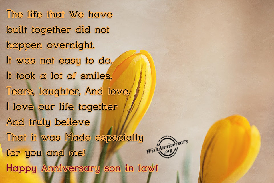 Anniversary Wishes For Son In Law Pictures Images