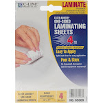 C-Line Cleer Adheer Permanent heavy-weight single-sided lamination film, Clear - 4-pack