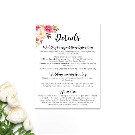 Paper Halo   Wedding Information Cards