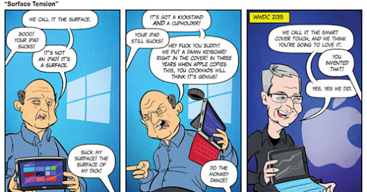 A comic predicted Apple's iPad Pro keyboard 3 years ago