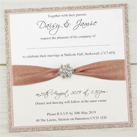 Mya Sparkle Wedding Invitation   Pure Invitation Wedding