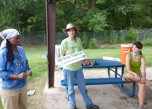 Belinda Coley, Dr Grace Peterson, Stephanie Hansen, Valencia Park Community Garden, Shreveport by trudeau