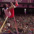 Vaulter's pole snaps into three pieces