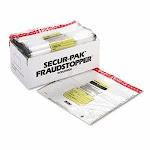 8 Bundle Capacity Tamper-Evident Cash Bags, Clear, 250 Bags/Box (MMF2362006N20)