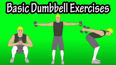 basic beginner introductory easy dumbbell workout