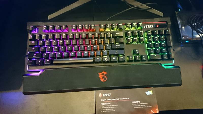 Msi Vigor Gk80 And Gk70 Gaming Keyboard At Ces 2017 Eteknix