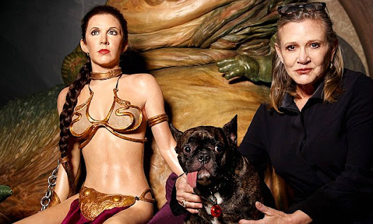 Carrie Fisher comes face to face with Princess Leia in London