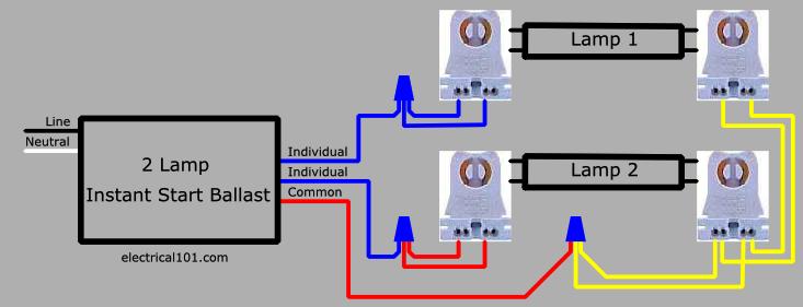 2 L T8 Ballast Wiring Diagram Schematic