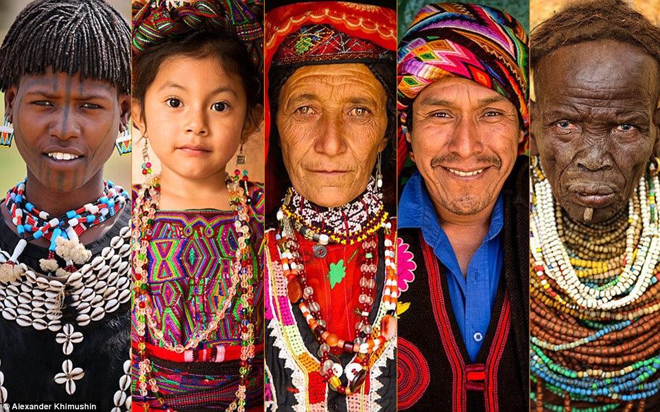 """A idéia por trás do mundo em Faces projeto é simples Sr. Khimushin quer mostrar a """"diversidade do mundo todos nós estamos vivendo em 'tomando retratos de seus"""" pessoas incríveis' e retratando suas tradições únicas e práticas antigas (foto)"""