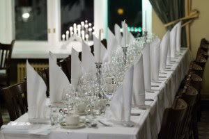 A banqueting table