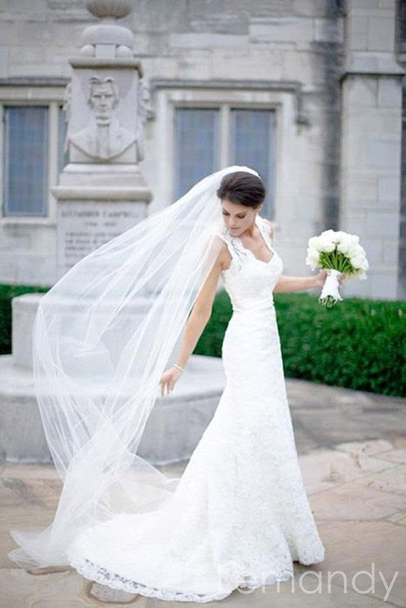 wedding dress with lace