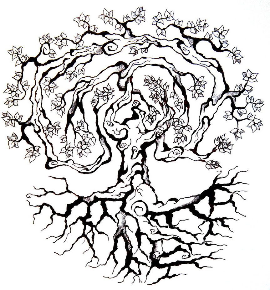 Tree Tattoo Drawing At Getdrawingscom Free For Personal Use Tree