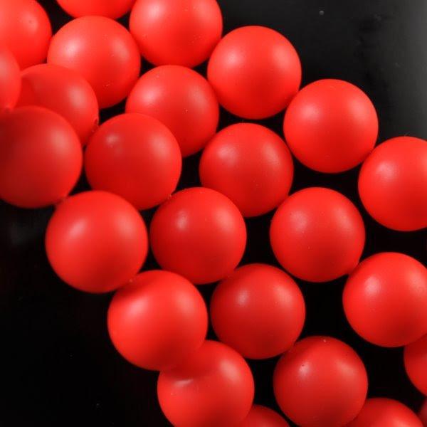 s34541 Swarovski Neon Pearl - 10 mm Round Pearl (5810) - Neon Red Pearl (10)