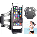 NAKEDCELLPHONE BLACK CASE COVER + ARMBAND STRAP COMBO FOR APPLE iPHONE 6/6s PLUS (ROTATING/REFLECTIVE/ADJUSTABLE)