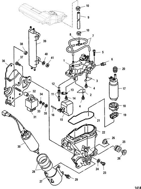 Mercury Marine 225 HP EFI (4-Stroke) Vapor Separator Parts