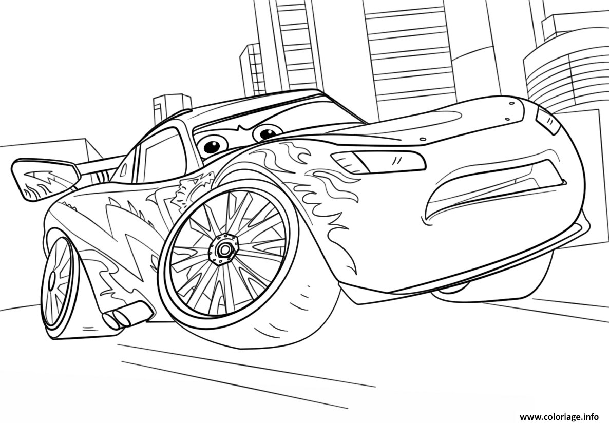 Coloriage Lightning Mcqueen From Cars 3 Disney Dessin   Imprimer