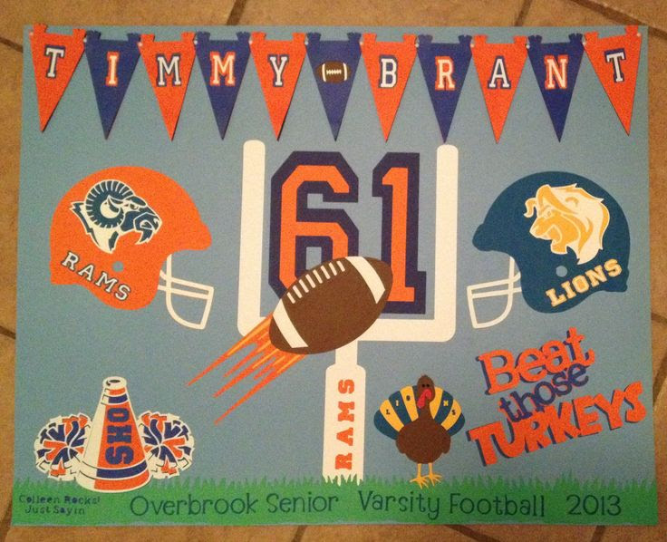Poster Board Ideas For Football Games Cafenewsinfo
