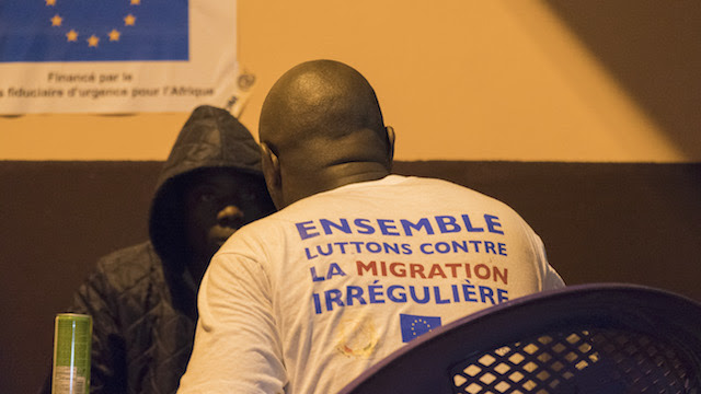 New arrivals receive assistance in Senegal. Credit: IOM/Lucas Chandellier