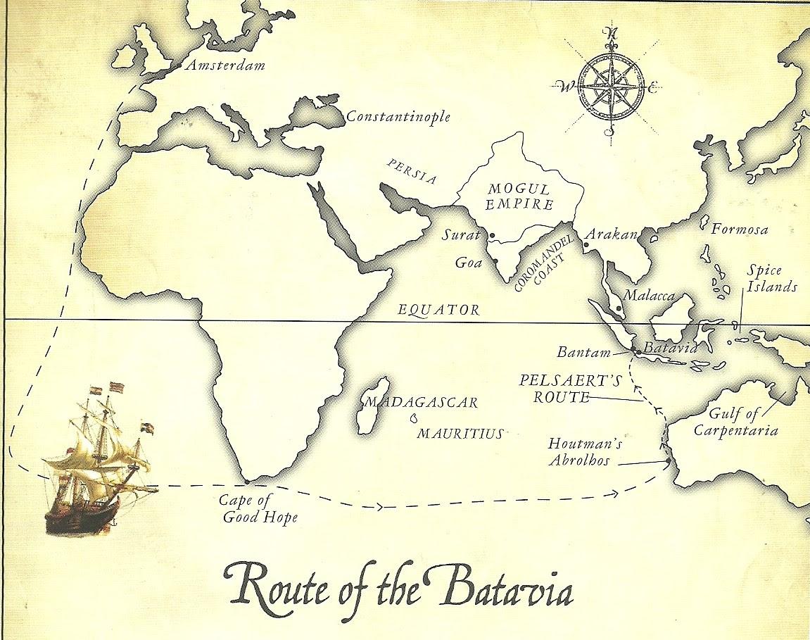 Resultado de imagen de wreckship of batavia map