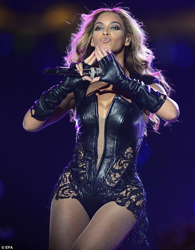 Epic: Beyonce performed in front of millions at the Super Bowl 2013 half-time show