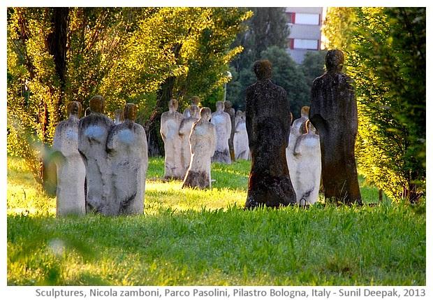 Parco Pasolini, Pilastro, Sculptures by Nicola Zamboni - images by Sunil Deepak, 2014