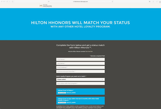 HHonors DIAMOND Status Match (letzte Chance) - You Have Been Upgraded