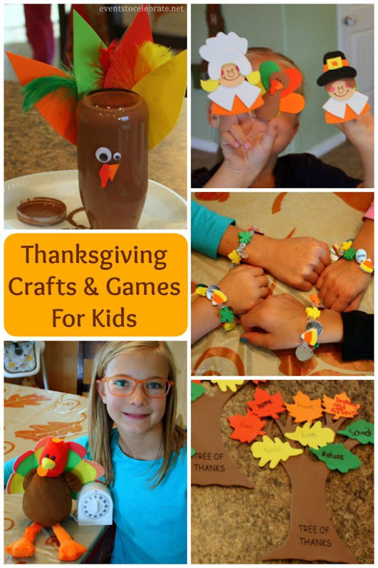 Thanksgiving Crafts and Games for Kids - events to CELEBRATE!