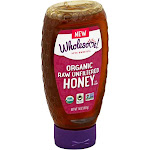 Wholesome Organic Raw Unfiltered Honey - 16 oz bottle