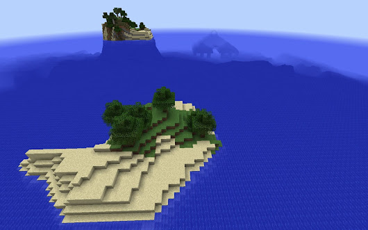 Tiny Island Spawn by Ocean Monument - Minecraft Seed HQ