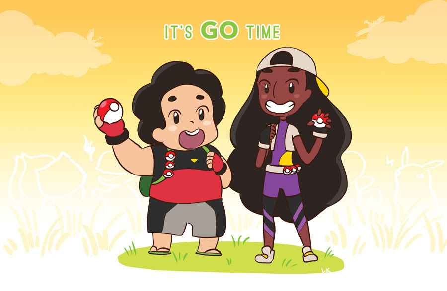 …in an AU where steven universe characters are gym leaders, and steven and connie have to CATCH 'EM ALL! re-uploading these because i made them into posters for some conventions.