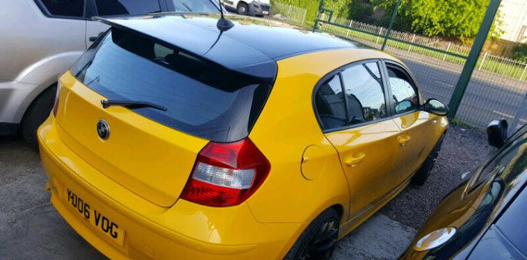 Yellow Bmw Car Photo