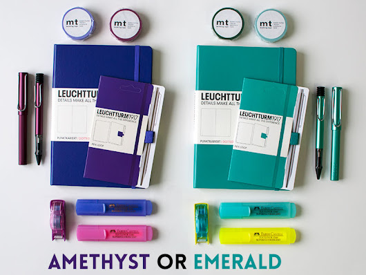 Amethyst vs Emerald: Bullet Journal Bundle Competition
