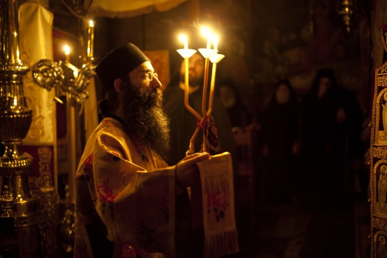 Orthodox deacon  Holy Mount Athos - Greece