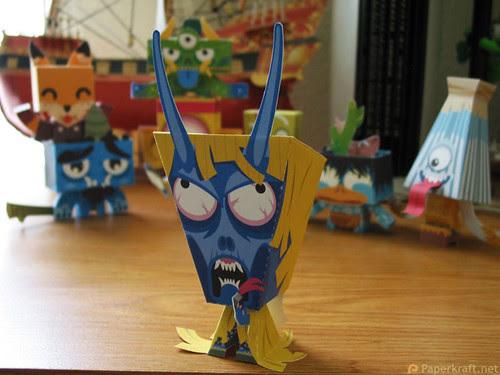 Japanese Monster Papercrafts - Namahage